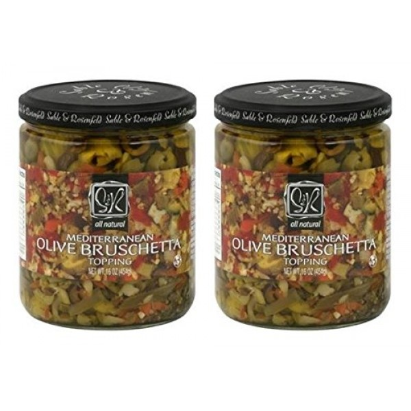 Sable and Rosenfeld Mediterranean Olive Bruschetta, 16 Ounce Pa...