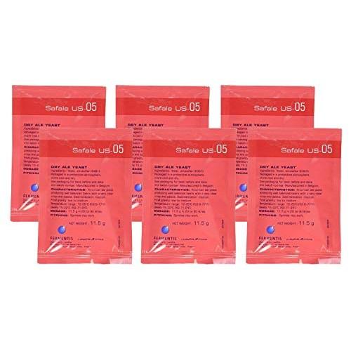 Safale US-05 Six Packages, 11.5 g ea