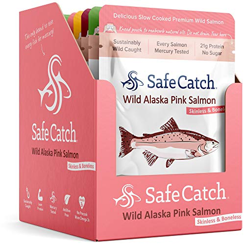 Safe Catch Wild Alaska Pink Salmon, Mercury Tested, Seasoned, 2....