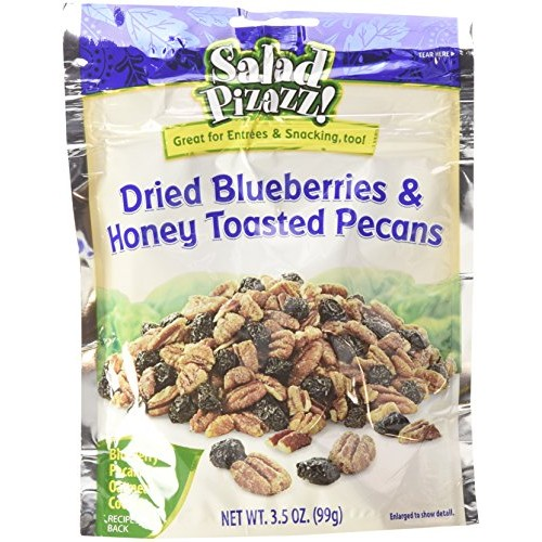 Salad Pizazz Dried Blueberries and Honey Toasted Pecans, 3.5 Oun...