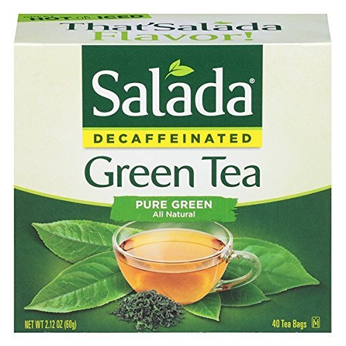 Salada Decaffeinated Green Tea, 40-Count Boxes Pack of 6