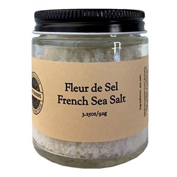 SALT TRADERS Fleur de Sel de Guerande - French Sea Salt - 3.25 o...