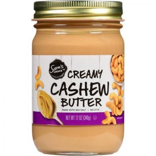Sams Choice Creamy Cashew Butter, 12 oz