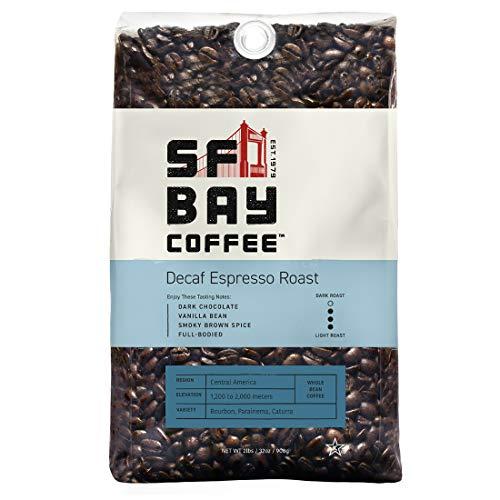 SF Bay Coffee DECAF Espresso Roast Whole Bean 2LB 32 Ounce Dar...