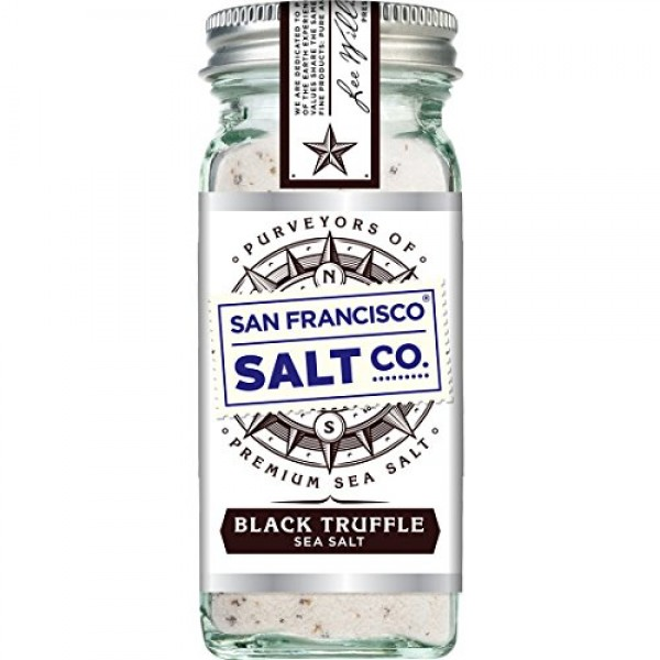 4 oz. Glass Shaker - Authentic Italian Black Truffle Gourmet Sea...