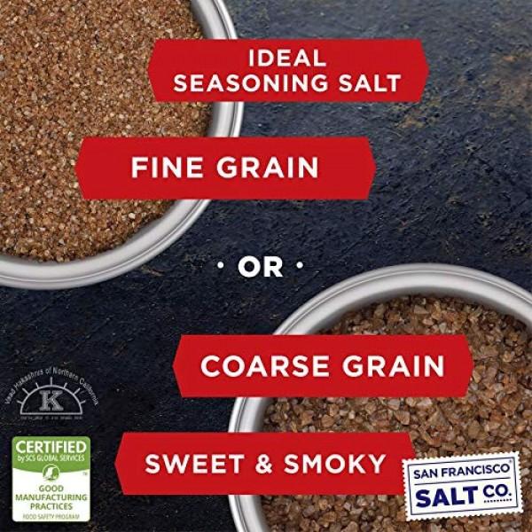 Applewood Smoked Sea Salt - 2 lbs. Coarse Grain by San Francisco...