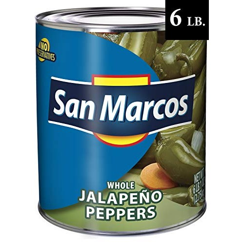 San Marcos Whole Jalapenos, 6 Lb, 97 oz, Carefully handpicked Wh...