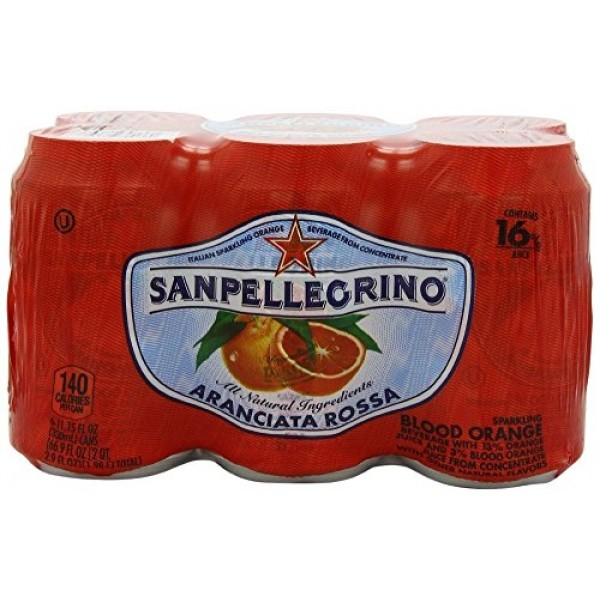 San Pellegrino Bev 6pk Sprklng Blood Orn