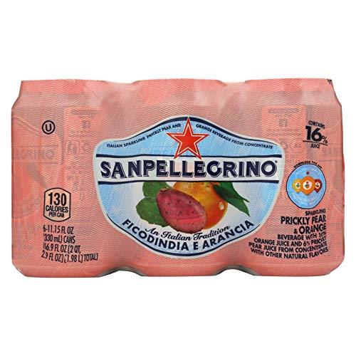 San Pellegrino Sparkling Water - Pear and Orange - Case of 4-11....