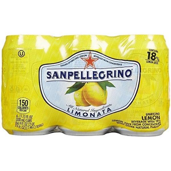 San Pellegrino - Limonata Lemon Soda, 12- 11.15 oz. Cans