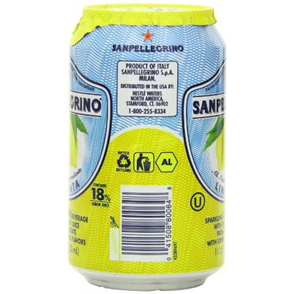 San Pellegrino Sparkling Beverage, Limonata Lemon, 11.15 Fl Oz...