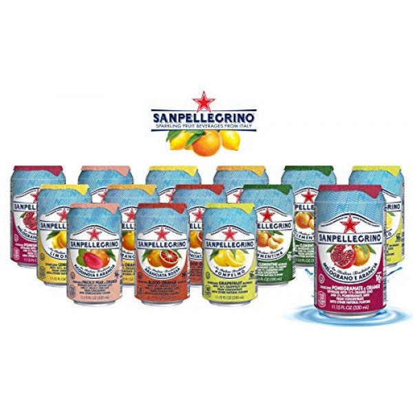 San Pellegrino Sparkling Fruit Beverages - All Flavor Variety Pa...