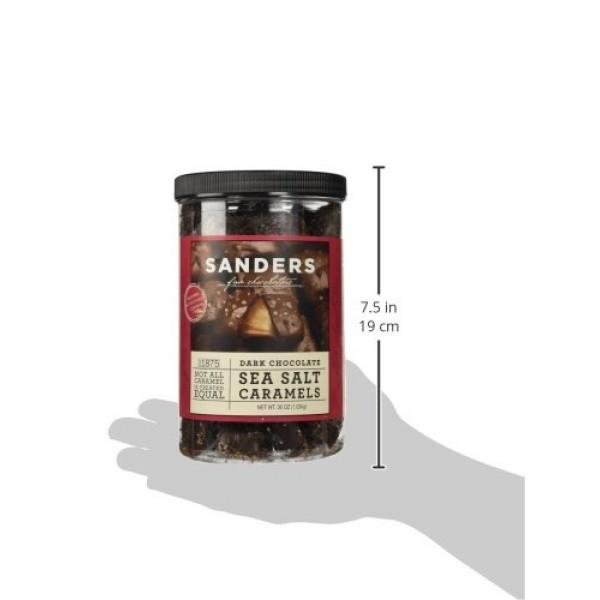 Sanders Dark Chocolate Sea Salt Caramels - 36 ounces 2.25 pounds