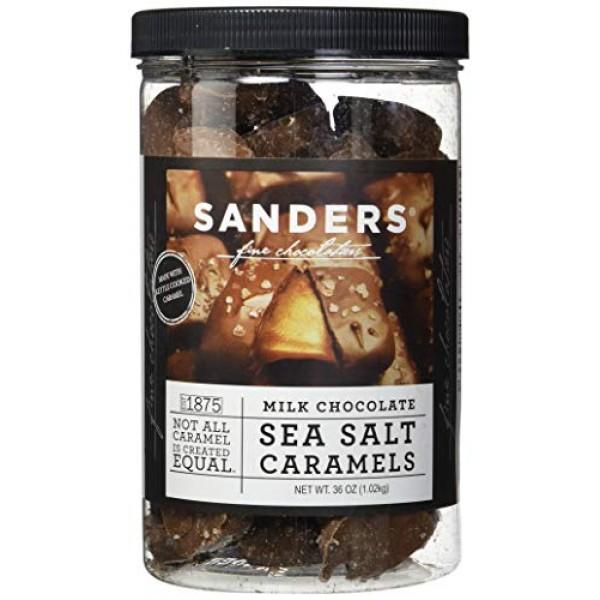 Sanders Milk Chocolate Sea Salt Caramels - 36 Oz. 2.25 lb