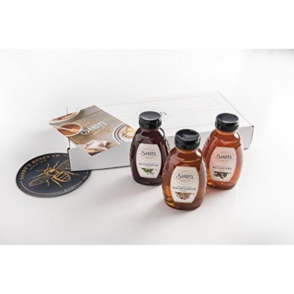 Sandts Unfiltered Raw Honey Varietal Bundle - Buckwheat, Wildfl...