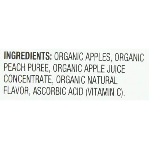 Santa Cruz Organic Apple Peach Sauce, 4-Ounce Cups, 6 Count Pac...