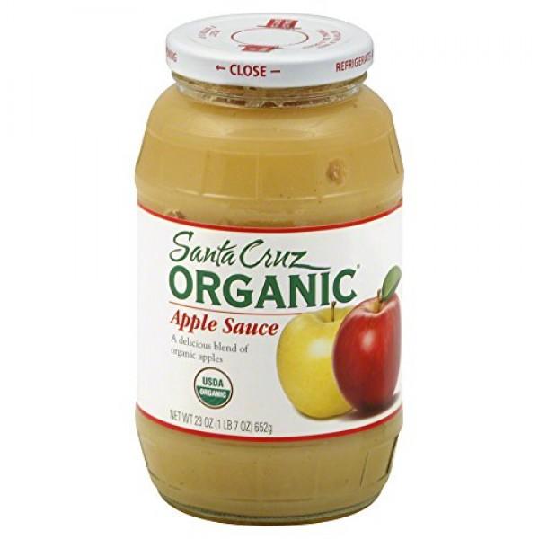 Santa Cruz Organic Apple Sauce, 23 Ounce -- 12 per case.