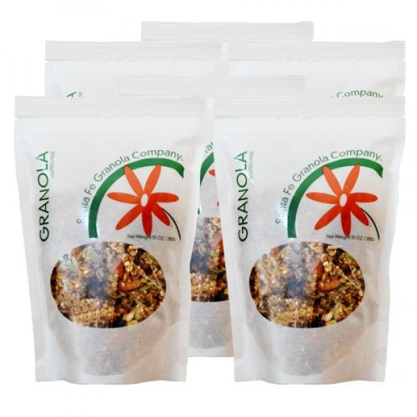 Santa Fe Granola Co. All Natural Granola, 10oz Pouches 6 Pack