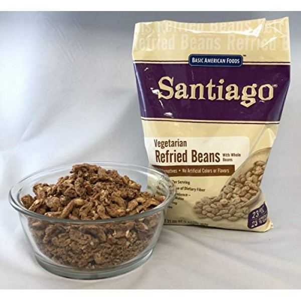 Dehydrated Vegetarian Refried Beans with Whole Beans