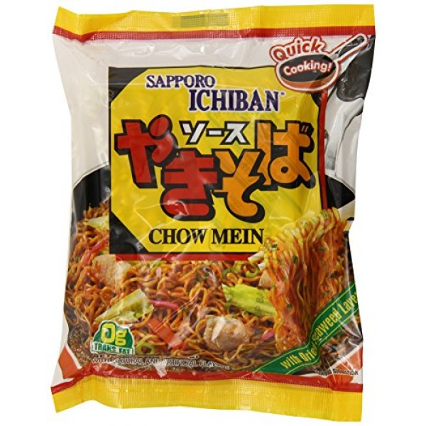 Sapporo Ichiban Chow Mein, 3.6-Ounce Packages Pack of 24