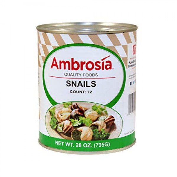 Ambrosia snails extra large 72 count egg 12-28 ounce
