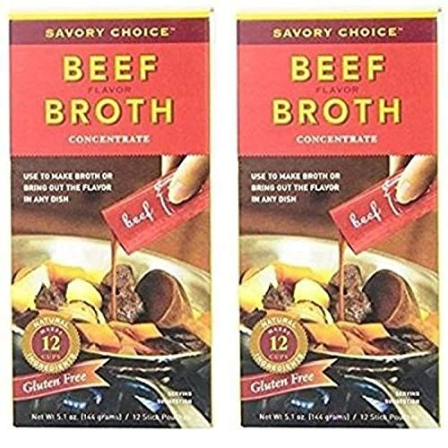 Savory Choice Liquid Beef Broth Concentrate 5.1 Ounce Box Pack ...