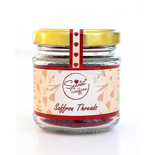 15 Grams 0.53oz of Finest Natural Red Saffron Threads, No Addi...