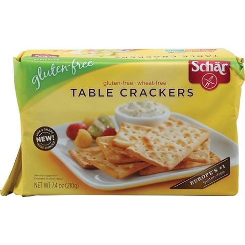 Schar Table Crackers Gluten Free -- 7.4 oz - 2 pc