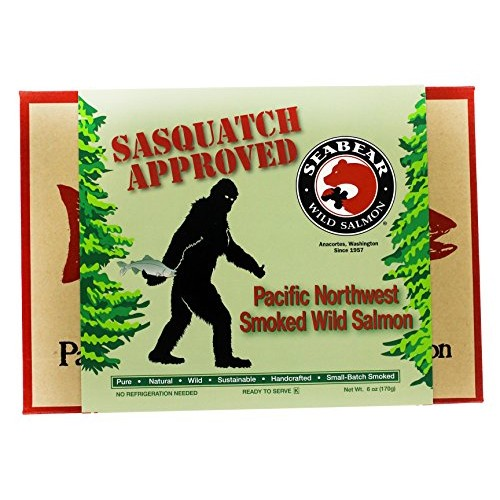 SeaBear Sasquatch Approved Smoked Wild Salmon, Pacific Northwest...
