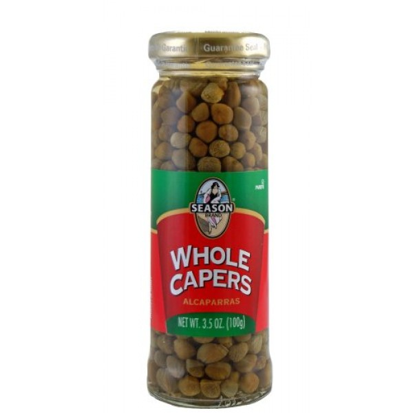 Season Whole Capers,Non Pareilles, 3.5-Ounce Glass Jars Pack of 6