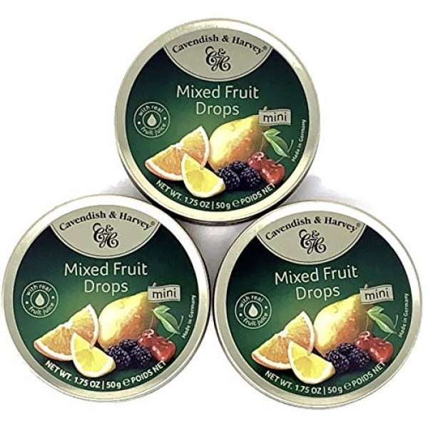Cavendish And Harvey - Hard Candy Tin 1.75oz Pack of 3 Mixed ...