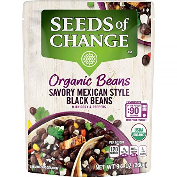 SEEDS OF CHANGE Mexican Style Organic Black Beans 6Pk