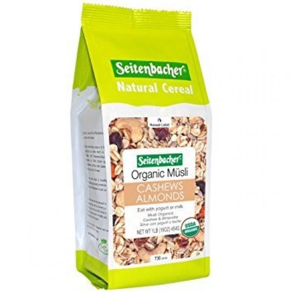 Seitenbacher Muesli #21 Organic Oat and Barley Muesli with Cashe...