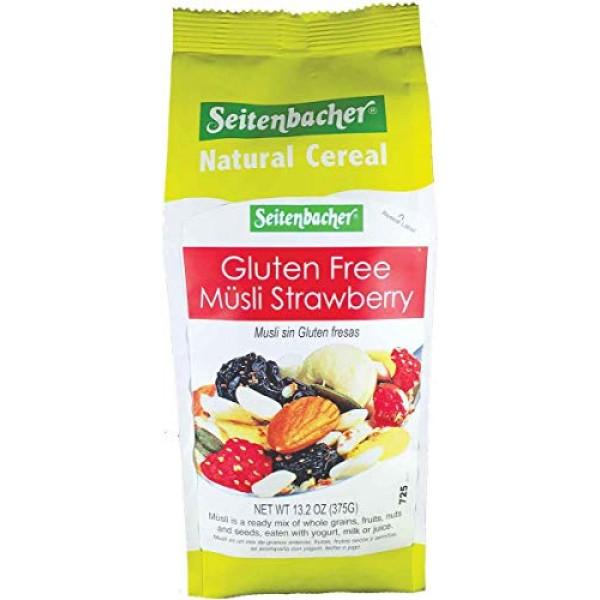 Seitenbacher Gluten Free Muesli Strawberry Natural Cereal, 13.2 ...