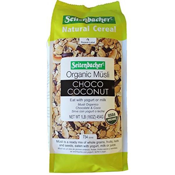 Seitenbacher Muesli - Organic Choco Coconut Breakfast Imported f...