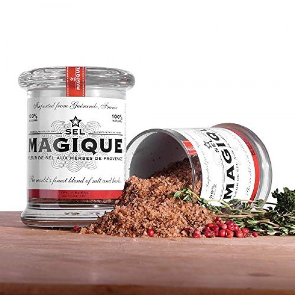 Sel Magique Herb Sea Salt Spicy Blend - French Fleur De Sel, Nat...