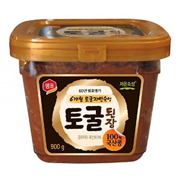 Premium Unpasteurized Non-GMO Togul Soybean Paste, Doenjang 1.9...