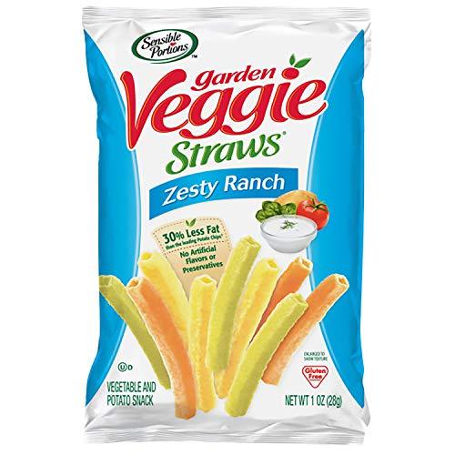 Sensible Portions Garden Veggie Straws, Zesty Ranch, 1 oz. Pack...