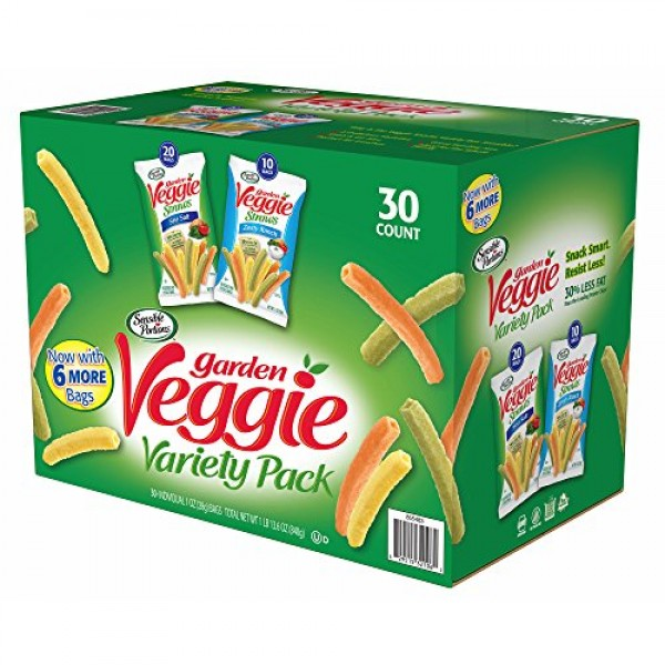 Sensible Portions Garden Veggie Snack Straws Shape Chips Variety...
