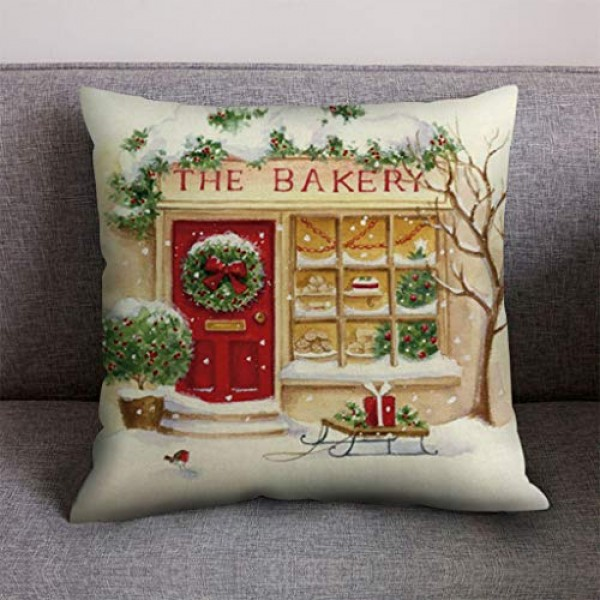 Shan-S Christmas Decoration Throw Pillow Covers 18 x 18 Inch, Me...
