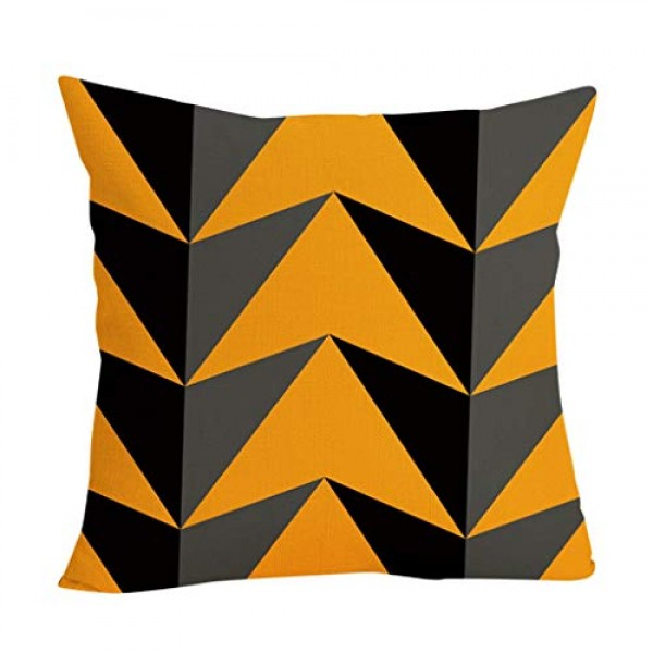 Shan-S Halloween Pillow Covers 18×18 Inch Square Pillowcase Happ...