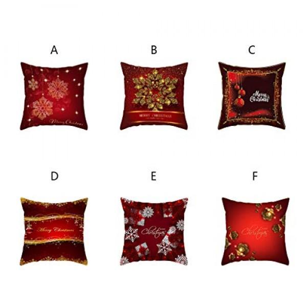 Shan-S Throw Pillow Covers, Modern Decorative Cotton Linen Chris...