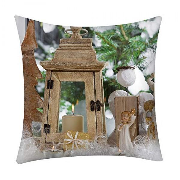 Shan-S Christmas Throw Pillow Covers 18 x 18 45cm x 45cm,Set o...