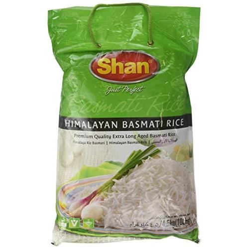 Shan Premium Quality Kernel Basmati Rice 10 Lbs Bag - Extra Long...