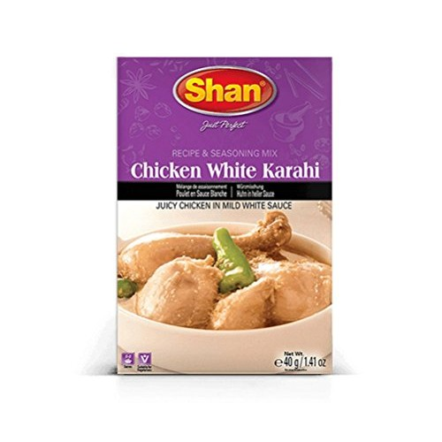 Shan Chicken White Karahi Spice Mix - Pack of 6 1.41 Oz. Ea.