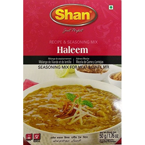 Shan Haleem Seasoning Mix For Meat and Lentils - Pack of 6 50 g...