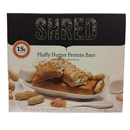 Shred Fluffy Nutter Protein Bar 1.4 Oz - Pack of 7