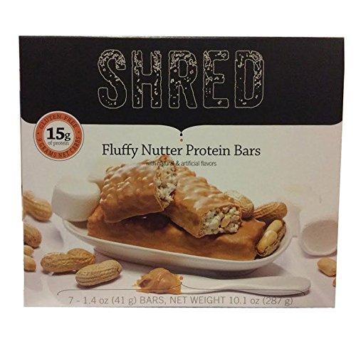 Shred Fluffy Nutter Protein Bar 1.4 Oz - Pack of 7
