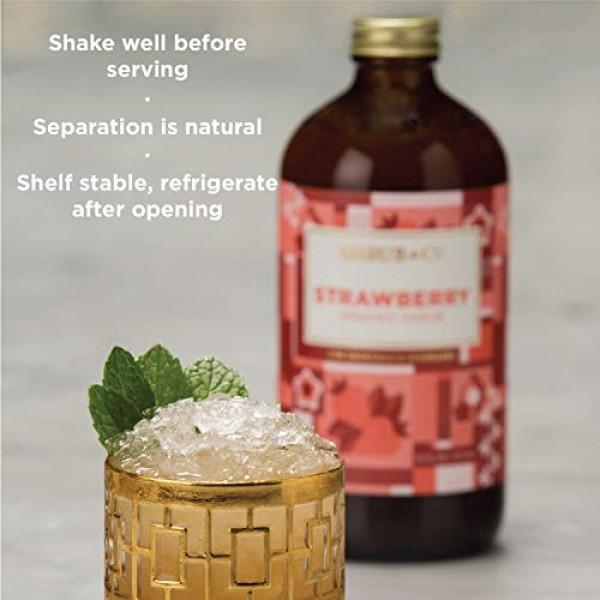 Shrub & Co Peach Shrub - Fruit-Driven Mixers for Cocktails, Spar...