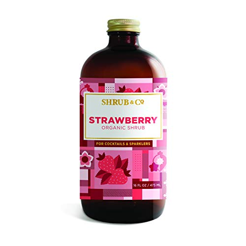 Shrub & Co Organic Strawberry Shrub - Fruit-Driven Mixers for Co...